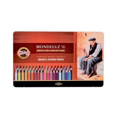 Kredki akwarelowe Mondeluz w metalowej kasecie 36 kolorów (8593539232551)