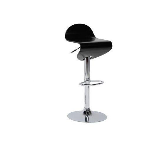 Hoker czarny - hoker barowy - krzesło barowe -liverpool marki Beliani