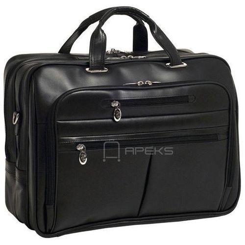 "Mcklein rockford skórzana torba na ramię na laptopa 17"" - czarny (6421548651518)"