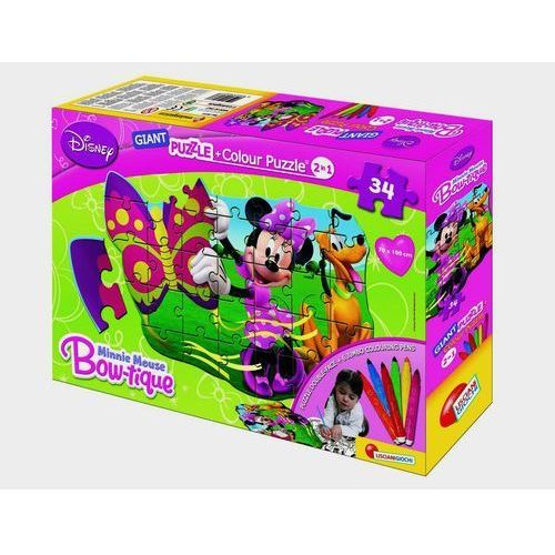 Minnie Mouse Giant Puzzle dwustronne + mazaki (8008324039777)