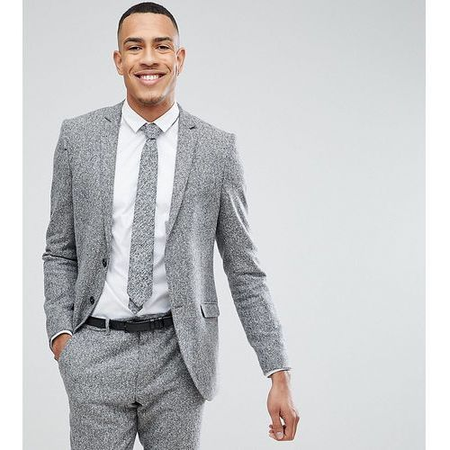 Heart & Dagger TALL Skinny Suit Jacket In Herringbone Tweed - Brown