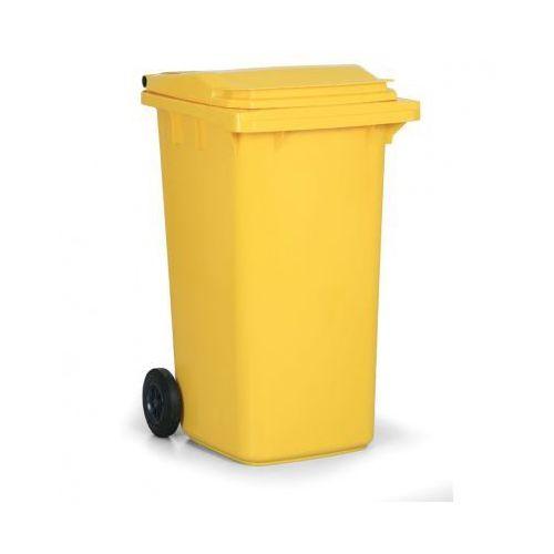 B2b partner Plastikowy pojemnik na odpady cld 240 litrów, żółty