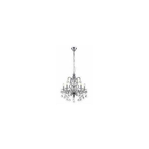 Lampa wisząca zwis Reality Chateau 5x40W E14 chrom / kryształ 124005-06, 124005-06