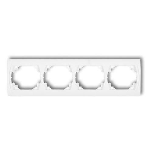 Karlik elektrotechnik sp. z o.o. Logo ramka pozioma poczwórna grafitowy 11lrh-4 (5901832006992)