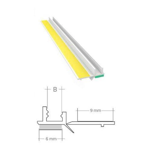 Profil przyokienny dylatacyjny biały z uszczelką b=6mm l=2,5m 60szt marki Emaga