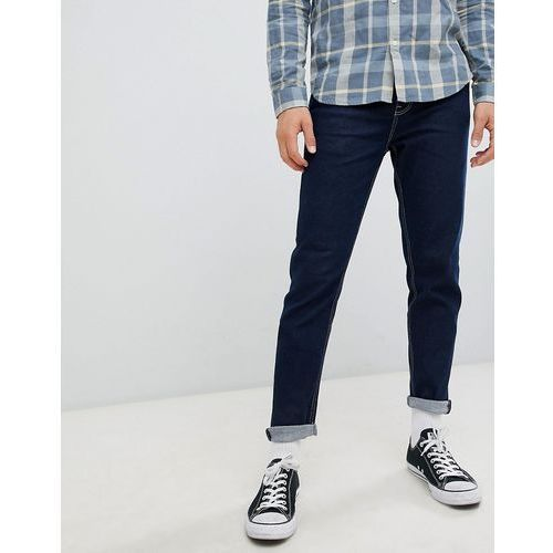 New Look tapered jeans with contrast stitching - Navy, kolor szary