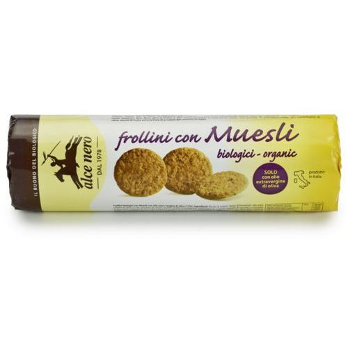 Herbatniki musli bio 250 g - alce nero marki Alce nero (włoskie produkty)