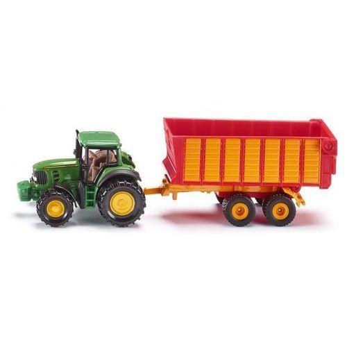 Pojazd traktor john deere z przyczepą marki Siku