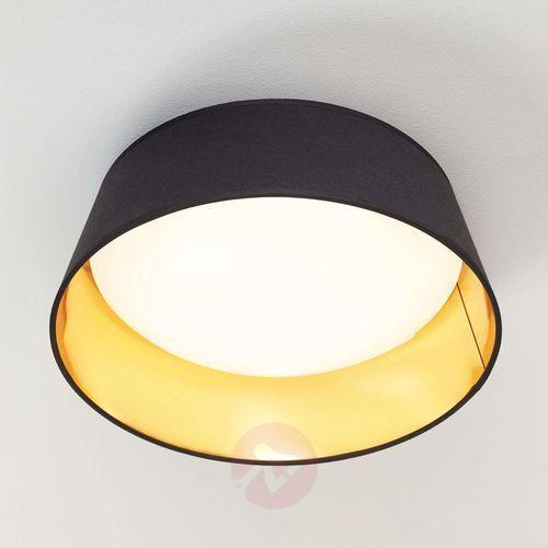 Plafon LAMPA sufitowa PONTS R62871279 Trio natynkowa OPRAWA okrągła LED 14W abażurowa czarna, kolor Czarny