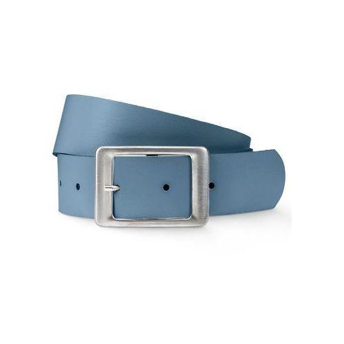 Pasek skórzany niebieski dżins marki Bonprix