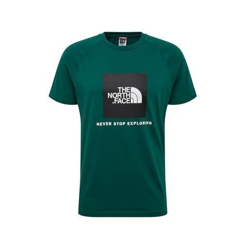 THE NORTH FACE Koszulka 'M S/S RAG RED BOX' jodła / czarny / biały, w 5 rozmiarach