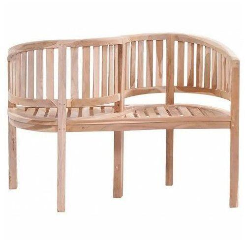 Drewniana ławka ogrodowa Serpent - brązowa, vidaxl_44581