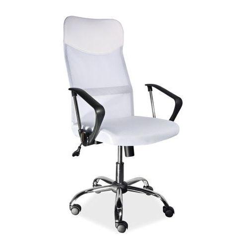 Krzesło biurowe z tkaniny membranowej q-025 biały marki Signal