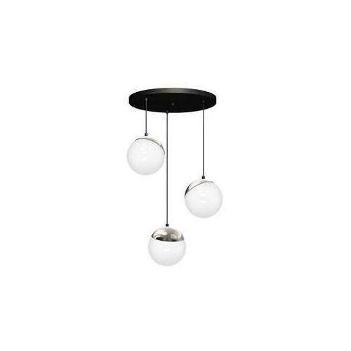 Luminex Lampa wisząca sphere cable 8884 lampa sufitowa żyrandol 3x60w e27 czarna / chrom! wyprzedaż ostatnia sztuka! (5907565988840)