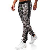 J.style Spodnie męskie dresowe joggery szare denley 55017