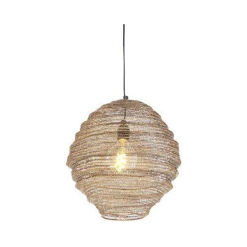 Honsel Orientalna lampa wisząca mosiądz 35 cm - nidum mena