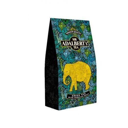 Sir adalbert's tea Sir adalbert's green tea with marocan mint 100 g (4798810010376)