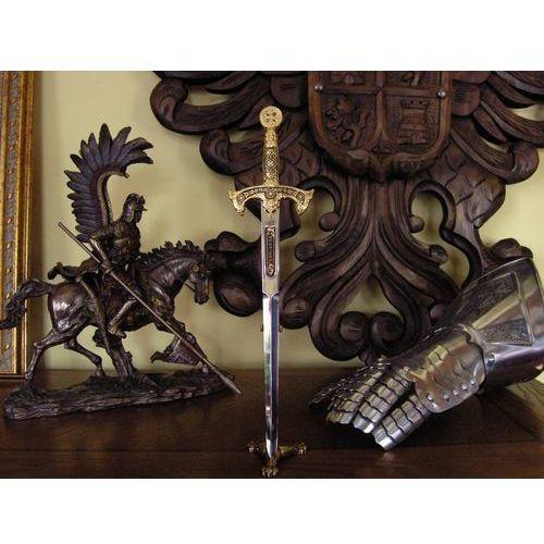 Płatnerze hiszpańscy Nożyk do listów miecz templariuszy stal damasceńska (5503-3)