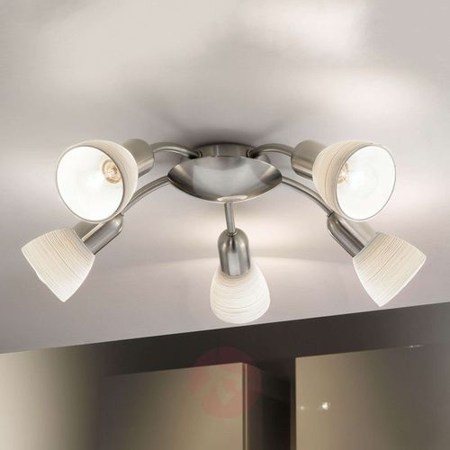 Lampa sufitowa Eglo Dakar 1 88476 oprawa plafon 5x40W E14 nikiel mat, 88476