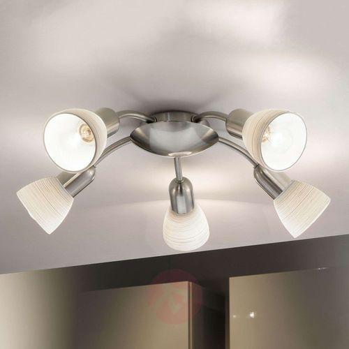 Lampa sufitowa Eglo Dakar 1 88476 oprawa plafon 5x40W E14 nikiel mat