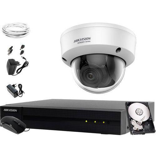 Kamera monitorująca nagrywająca do sklepu domu firmyHikvision Hiwatch HWD-7104MH-G2 1 x HWT-D340-VF 1TB Akcesoria