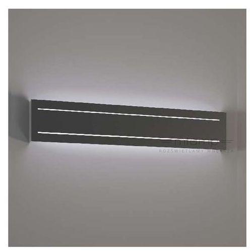 Kinkiet LAMPA ścienna KITAMI 4421/G9/SZ Shilo prostokątna OPRAWA metalowa szara