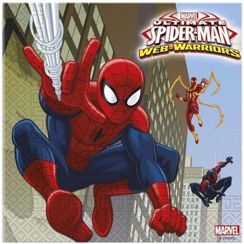 Twojestroje.pl Serwetki spiderman ultimate 33x33cm 20szt (5201184851548)