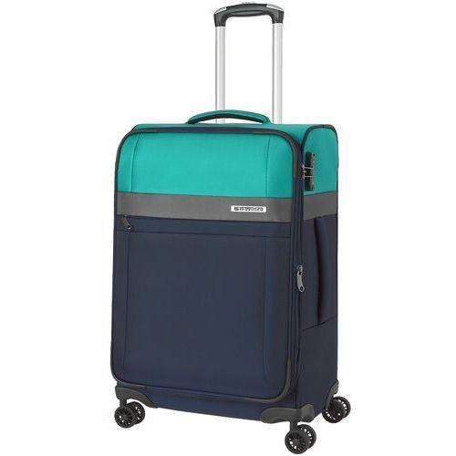 Travelite stream walizka średnia poszerzana 66 cm / granatowy - granatowy