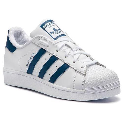 Buty - superstar j f34163 ftwwht/ftwwht/legmar marki Adidas