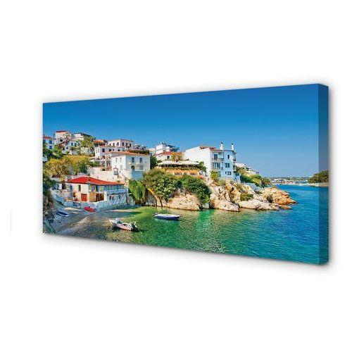 Obrazy na płótnie Grecja Wybrzeże budynki morze