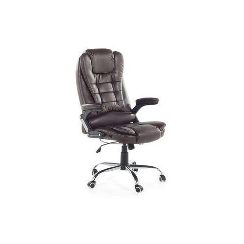 Krzesło biurowe brązowe - fotel biurowy - obrotowy - skóra ekologiczna - royal ii marki Beliani