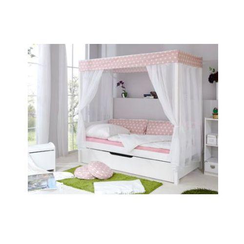 Ticaa kindermöbel Ticaa łóżko z baldachimem gwiazdki + dodatkowe łóżko, różowy
