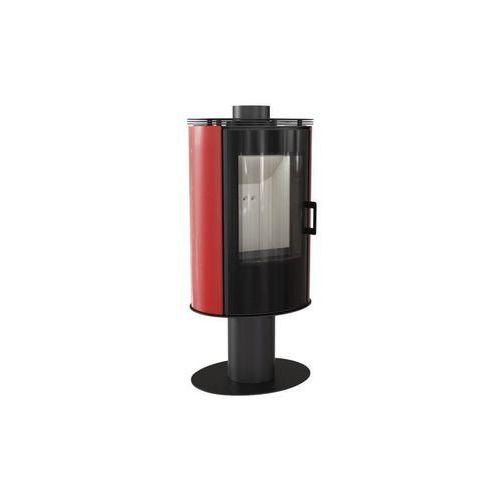 Piec kaflowy KOZA AB S/N/O/DR GLASS kafel czerwony + dodatkowy rabat przy zamówieniu + gratis, KOZA AB S/N/O/DR GLASS kafel czerwony