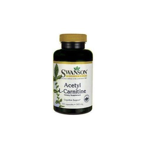 Kapsułki Swanson Acetyl L-Karnityny 500mg 100 kaps.