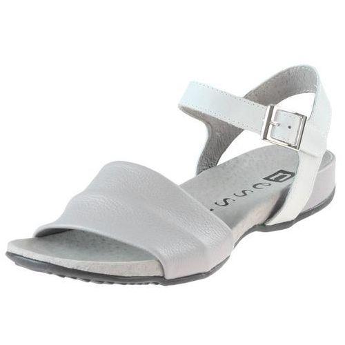 Sandały 17181 - białe 11 + szare 411, Nessi