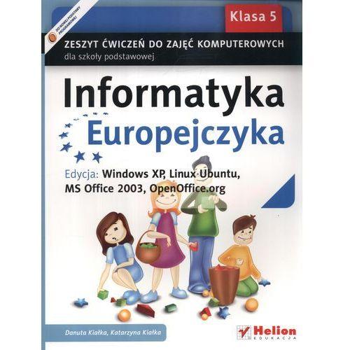 Informatyka Europejczyka 5 Zeszyt ćwiczeń do zajęć komputerowych, Helion