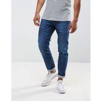 anbass stretch slim jeans mid wash metal blast - black marki Replay