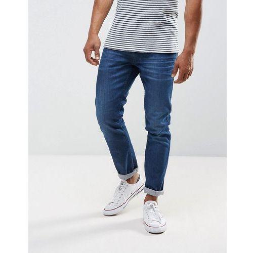 anbass stretch slim jeans mid wash metal blast - black, Replay