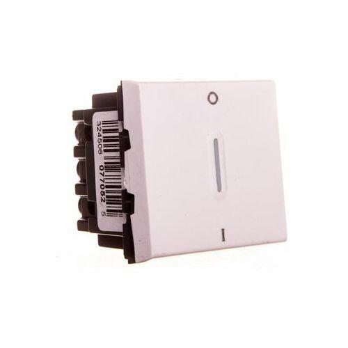 MOSAIC Łącznik dwubiegunowy ze wskaźnikiem LED biały 077052 (3245060770525)