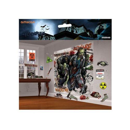 Amscan Dekoracja ścienna zombie - 32 elem.