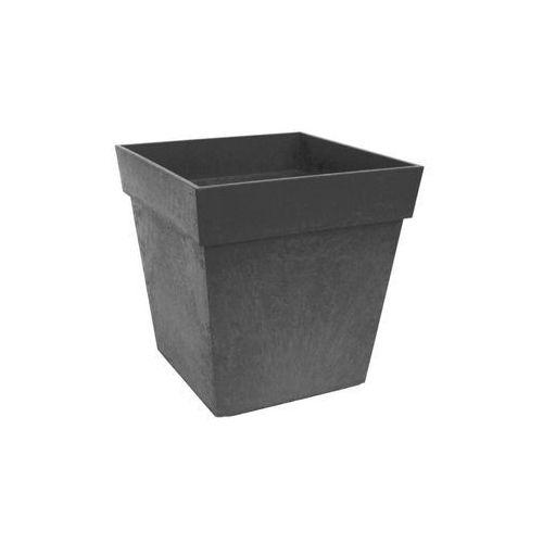 Donica ogrodowa 30 x 30 cm SYMPHONY szara gumowa (5907736265220)