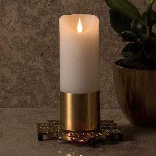 Konstsmide christmas Mosiężna opaska – świeca woskowa led 20,5 cm