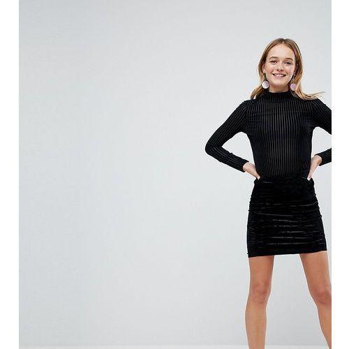 Monki velvet mini skirt - black