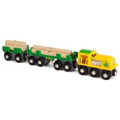 Brio pociąg towarowy transportujący drewno 33775 (7312350337754)