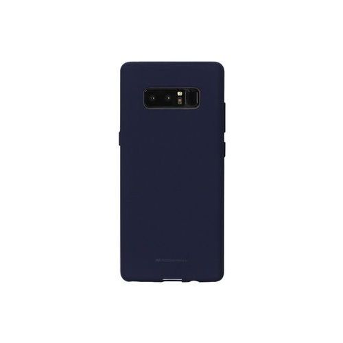 Samsung galaxy note 8 - etui na telefon soft feeling - granatowy marki Mercury goospery