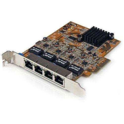 Startech.com Startech. com 4 port pci express/pcie gigabit ethernet karta sieciowa 4 x rj45 – złącza pci-e nic server adapter 10/100/1000 mbit/s 4 (0013040016078)