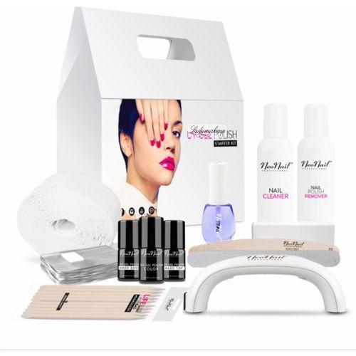 - starter set - zestaw startowy do manicure hybrydowego z białą lampą 9 w - 5028-2 marki Neonail
