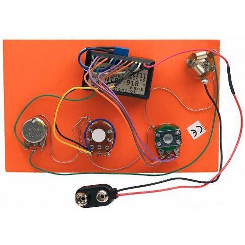Bartolini hr-3.3/918 - pre-wired active preamp, 2-band eq