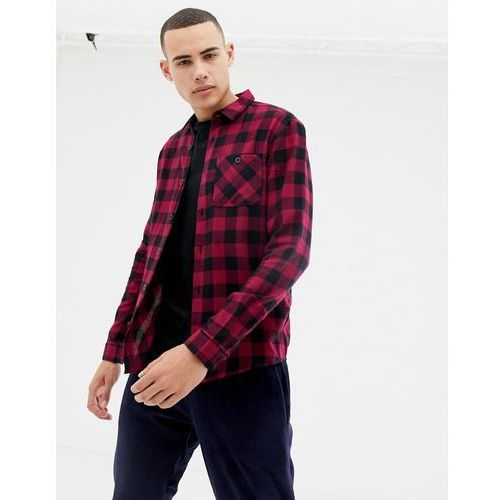 D-struct twin pocket buffalo gingham flannel shirt - red