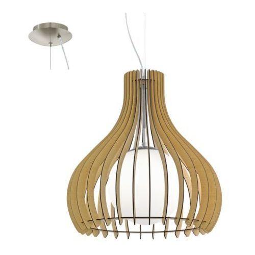 Lampa wisząca tindori średnia odcień drewna, 96214 marki Eglo